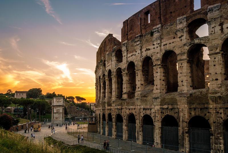 Rome sunset.