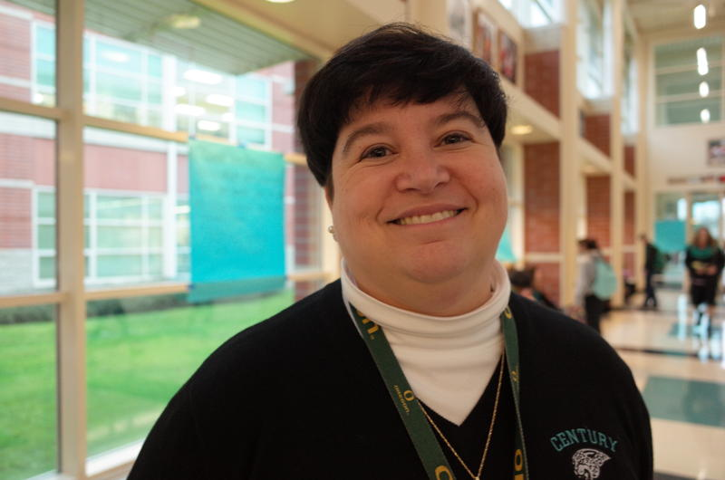 Martha Guise is the principal of Century High School in Hillsboro, a Portland suburb. She says class sizes at her school are around 34 — much higher than desired.