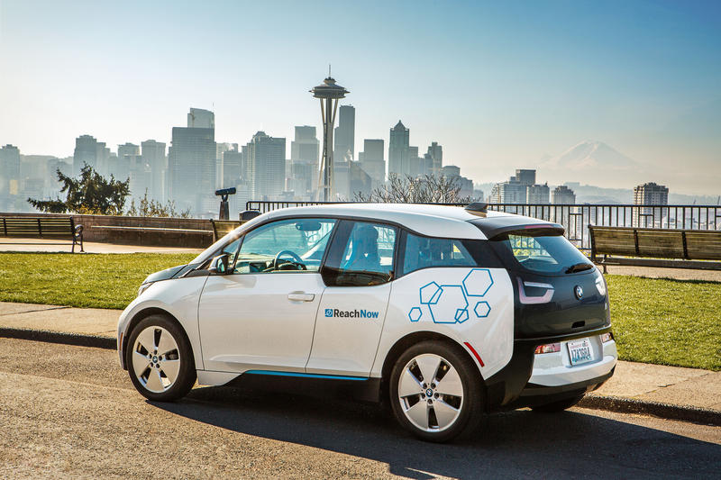 BMW's all-electric i3 is one of the vehicles being offered by the company's new ReachNow car-sharing service.