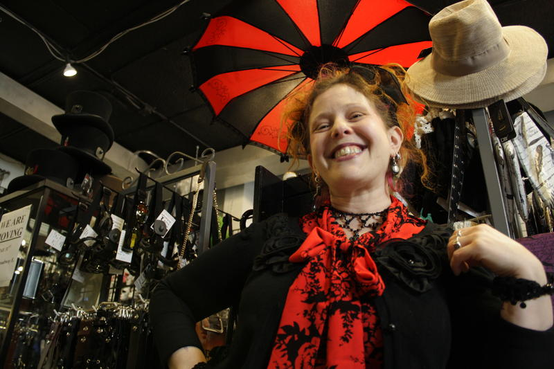 Jennafuh Singer of The New York Xchange says business is up since light rail moved to Capitol Hill. Her store is moving a few doors down into a space shared with Panache, in part to be even closer to light rail.