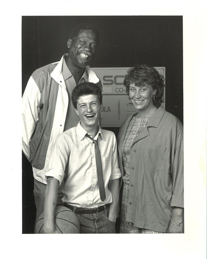 Pro baskteball player Bill Russell, left, guest-starred in an SCT production