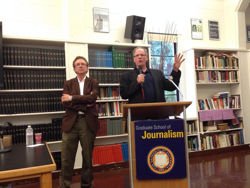 John Nichols and Robert McChesney at UC Berkeley.