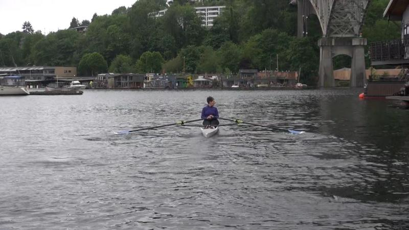 Reporter and rower Marcie Sillman.