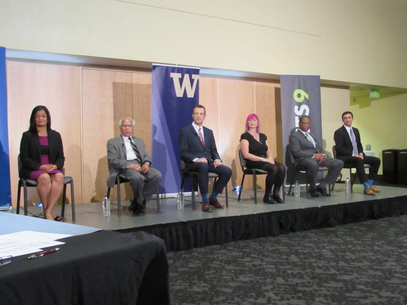 Candidates include two state legislators, a county council member, and a former mayor.