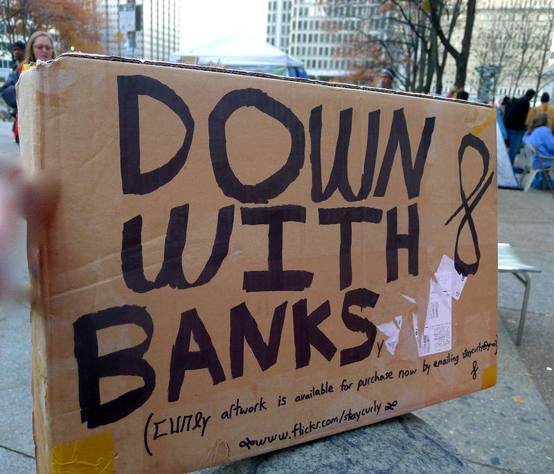 A sign at the Occupy Philly protest.
