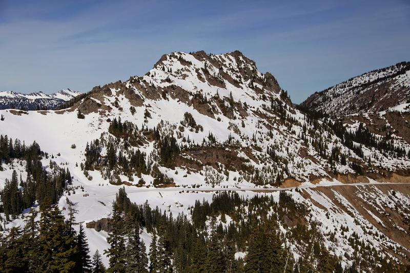 About three feet of snow covered the summit of Chinook Pass in 2015. That was an exceptionally light snow year for Washington.