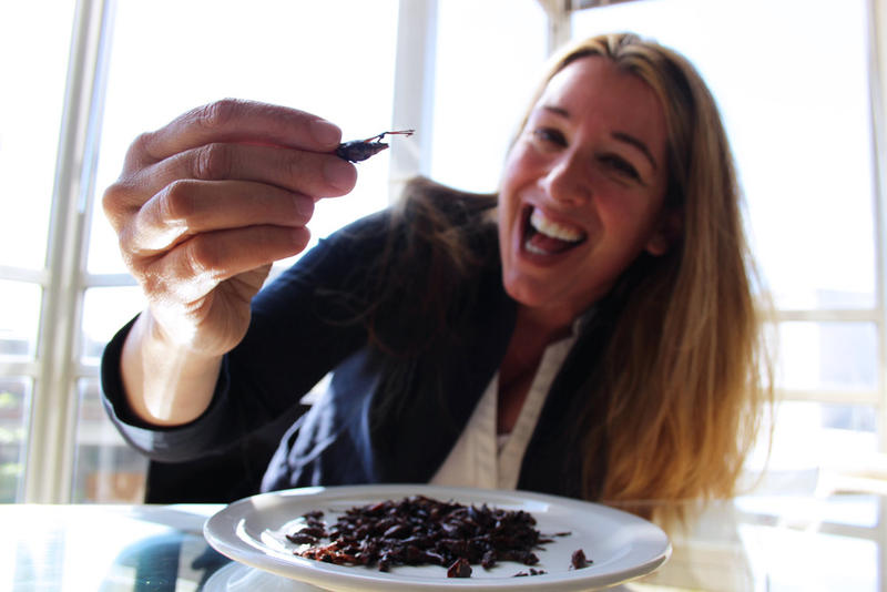 Mary Elder is ticking off a list of 50 fears. Eating a bug is on that list.
