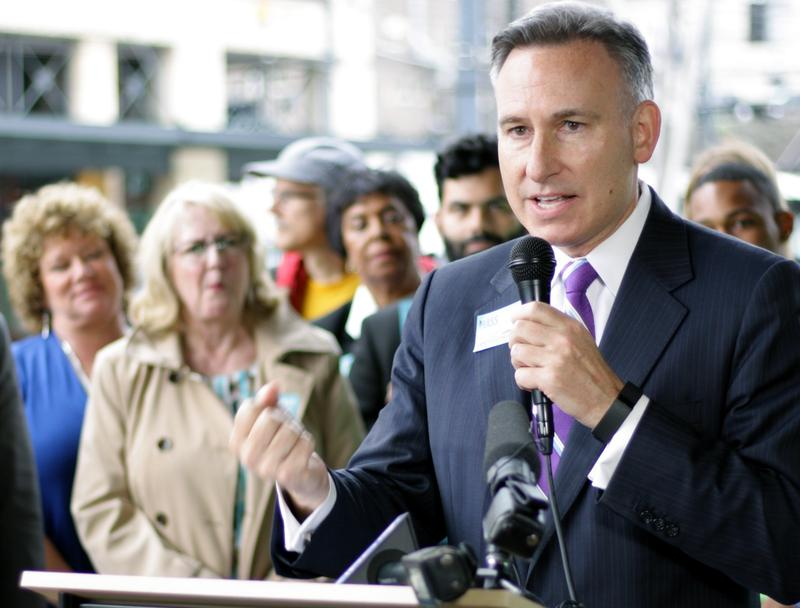 King County Executive Dow Constantine celebrates the Sound Transit Board's approval of a ST3 package for the fall ballot.