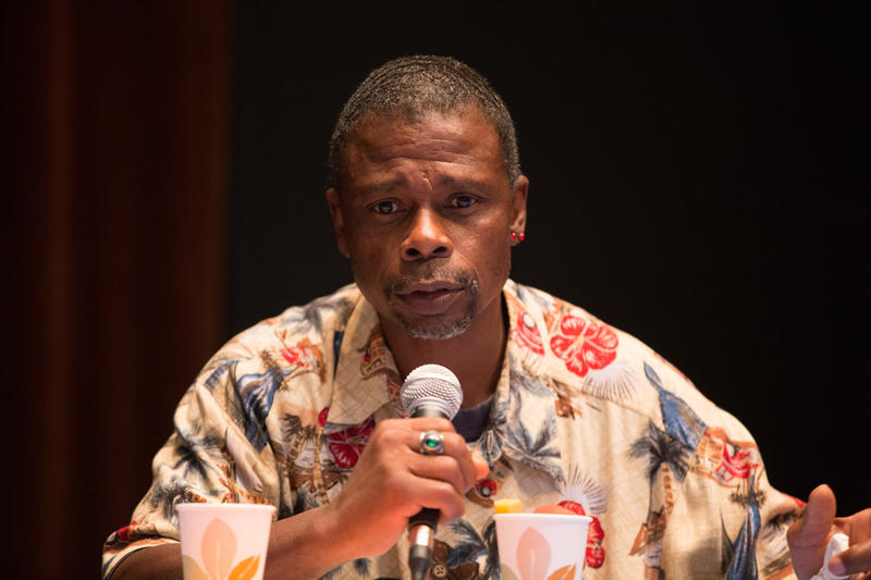 Donald Morehead talks about life as a homeless person in Seattle at an event from Seattle Public Library and KUOW on June 3, 2016.