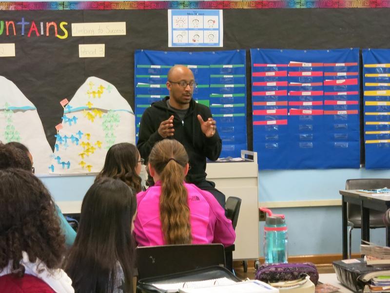 Mr. Drego Little teaches a class at Rainier Scholars