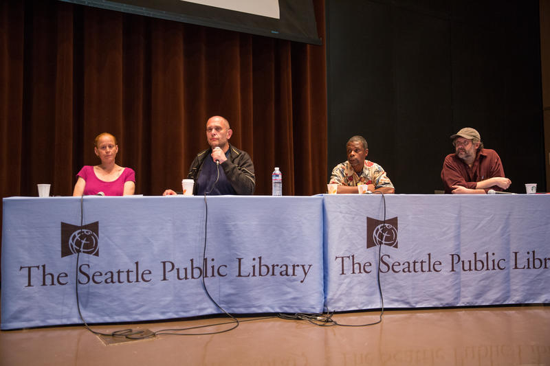 Panel (from left): Brandie Osborne, Kevin Boggs, Donald Morehead and Tim Harris.