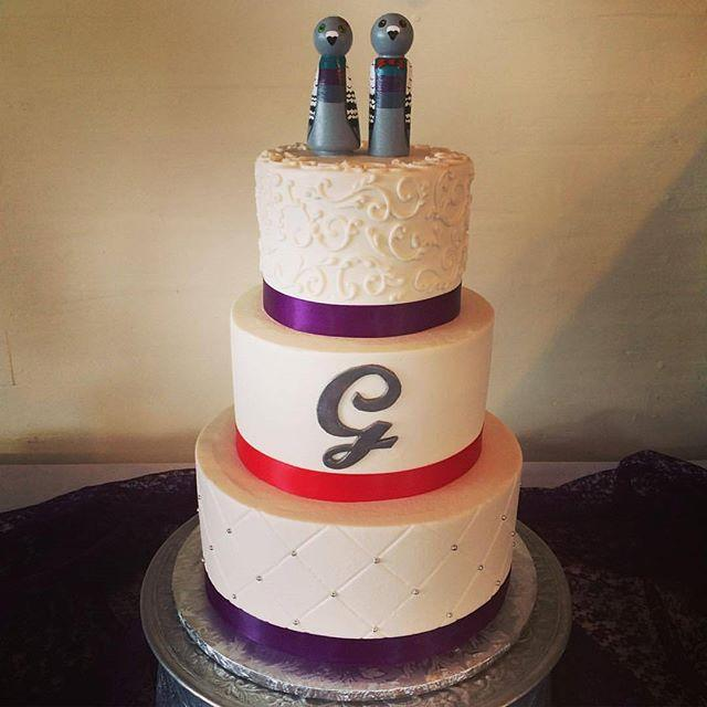 Pastry chef Kevin Moulder says he tries to match each of his cakes to the couple's personality.