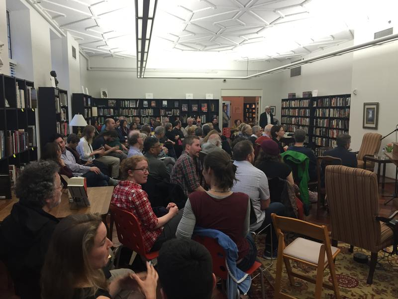 Audience awaits the Poets Three reading at Folio- The Seattle Athenaeum