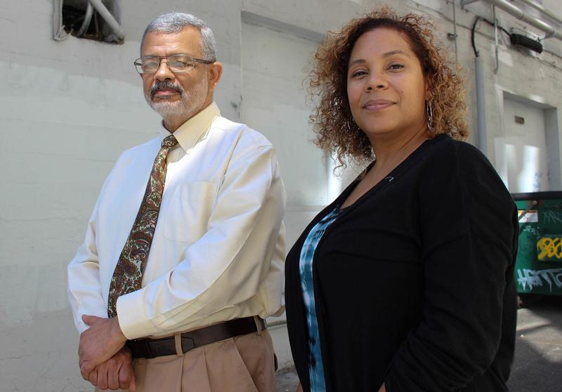 Dr. Bob Hughes of Seattle University and Yoshiko Harden of Seattle Central. Hughes and Harden were meeting at a Starbucks on Broadway in Seattle when someone came in and unfurled a string of racial slurs and explicitives at Harden.