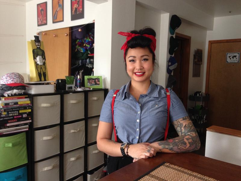 Kristy Nguyen is a hairdresser in Belltown. She rents an apartment set aside for low-income earners. It's how she can stay in the city.