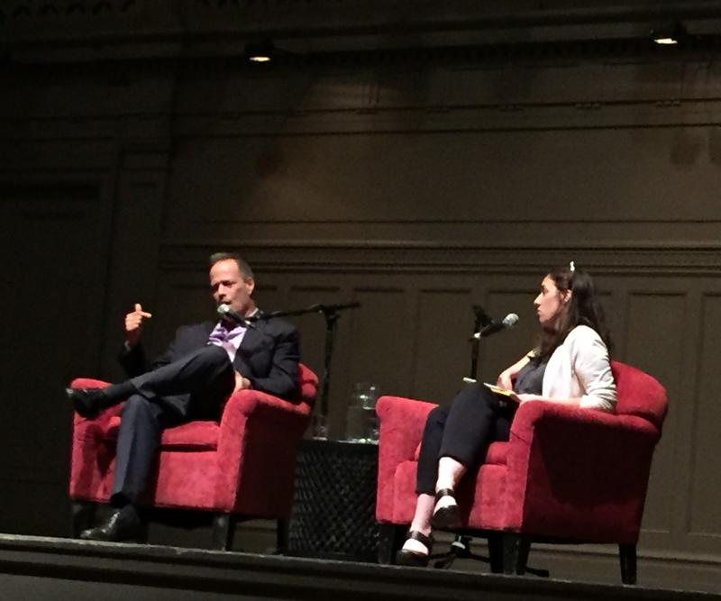 Sebastian Junger and Patricia Murphy at Town Hall Seattle