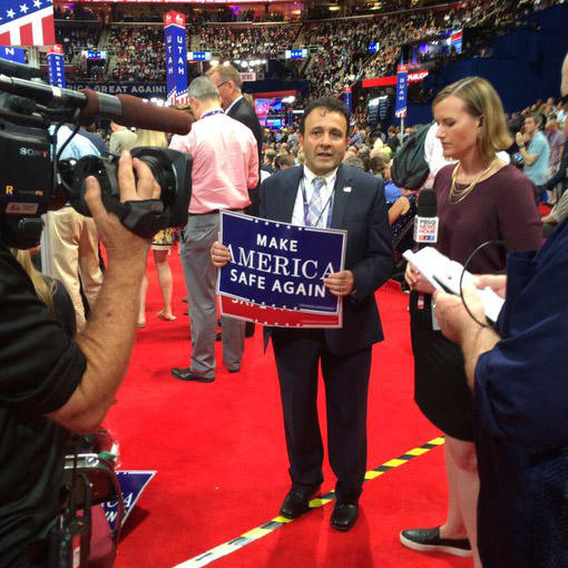 Washington delegate Hossein Khorram is a supporter of Donald Trump.