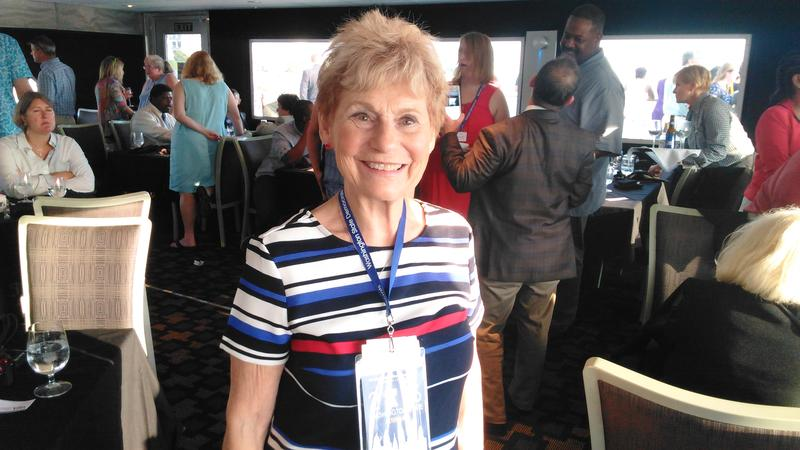 Myra Gamburg, a Clinton alternate delegate, was on the Washington delegation's boat cruise in Philadelphia on Sunday. Gamburg, 84, said she's excited about what Clinton's nomination means for women.
