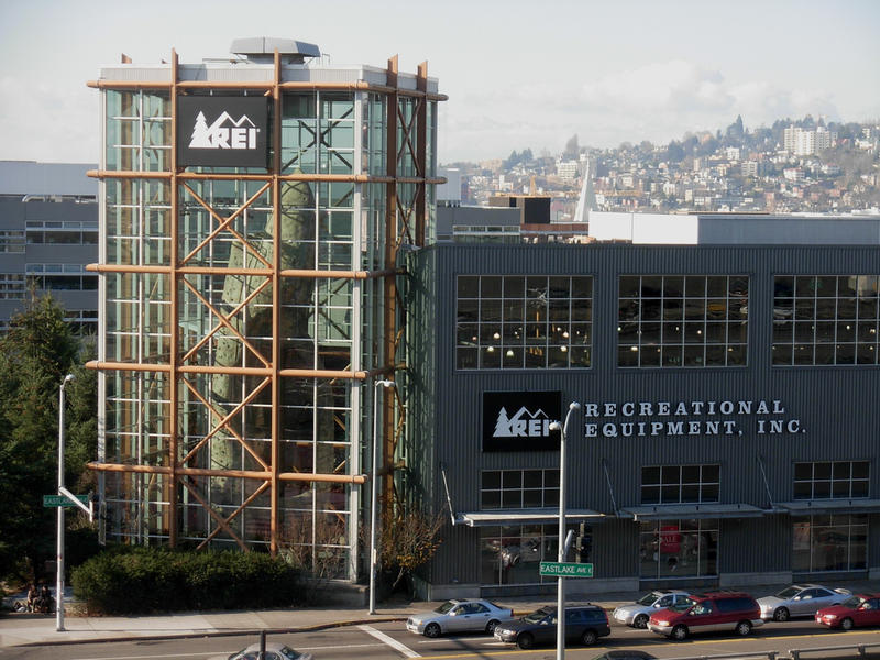 REI's famous flagship store in downtown Seattle.