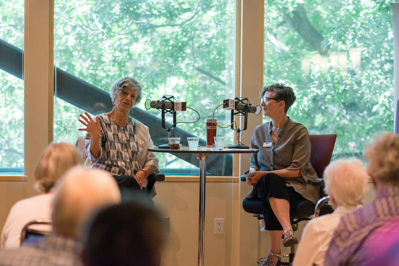 Susan Stamberg and Marcie Sillman at KUOW.