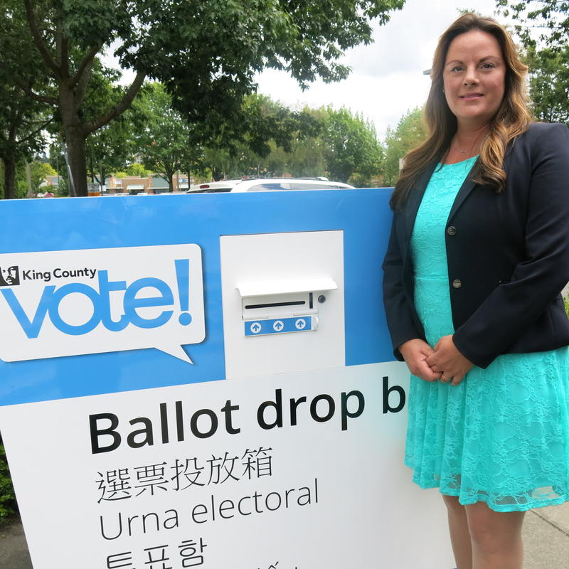 King County elections director Julie Wise. There will be 43 drop boxes around the county by the November election.