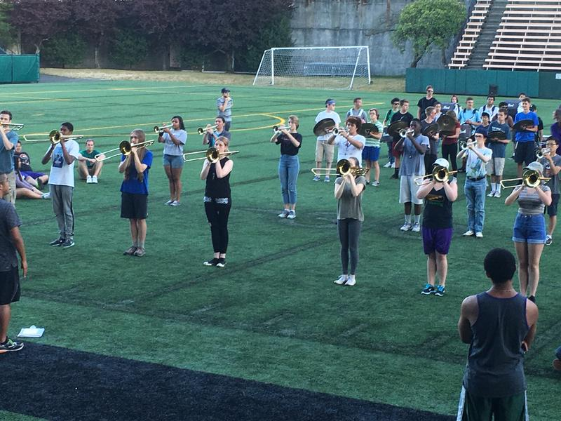 Seattle's All-City Band practices for Seafair. Click on this image for more photos of the band.