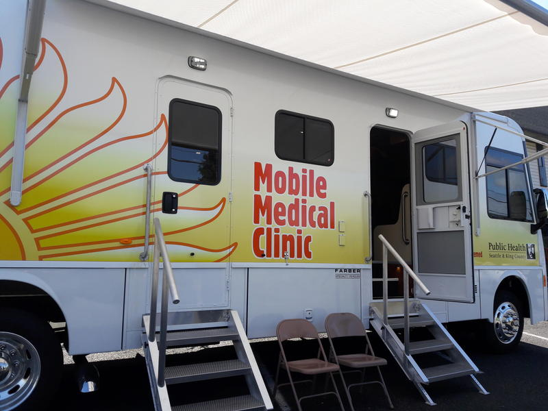 The new medical van for homeless people started seeing patients this week. The clinic is part of Seattle King county Public Health's Mobile Medical Program that started in 2008.