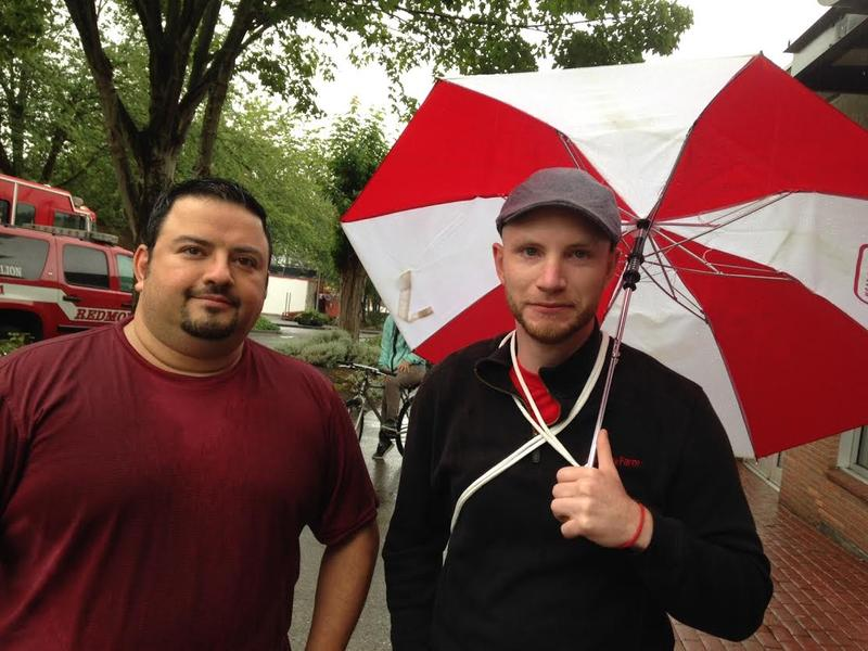George Ahearn and Beau Richards both work in downtown Bothell and say the fire there has left them with many questions.