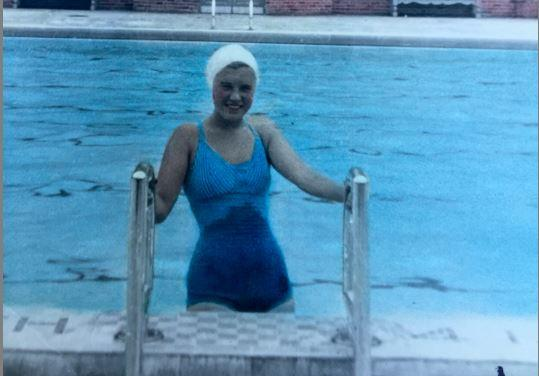 Jean Carroll was among the first swimmers at Colman Pool – even before opening day.