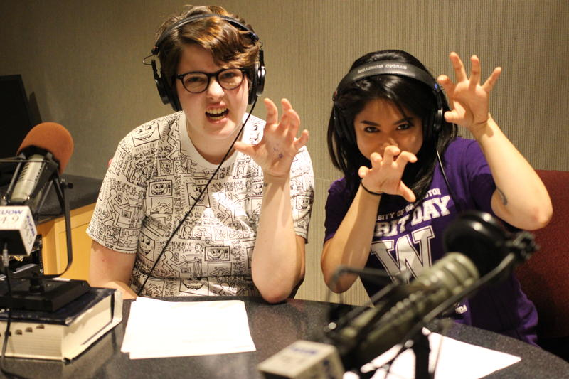 Hosts Amy Styer and April Reyes.