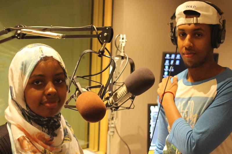 The hosts of this podcast, Zubeyda Ahmed and Awal Ibraahim.