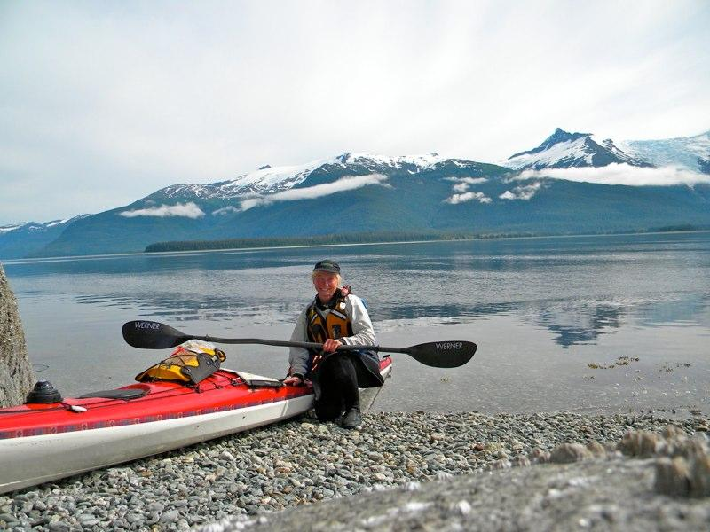 Susan Conrad and her trusty kayak.