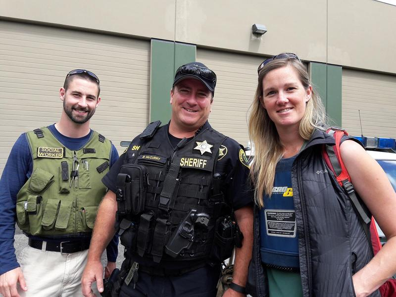 Jesse Calliham, left, Bud McCurry, center, and Lauren Rainbow are part of Snohomish County's Office of Neighborhoods. The unit's sole focus is working with homeless people who use heroin. Click on this image for more photos.