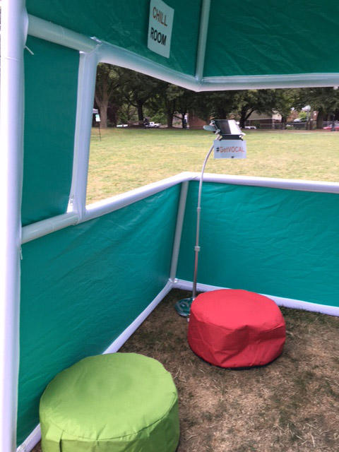 A 'chill room' is set up at VOCAL-WA's mock supervised safe consumption site.
