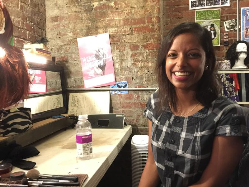 Varsha Raghavan, backstage at Cafe Nordo in Seattle's Pioneer Square
