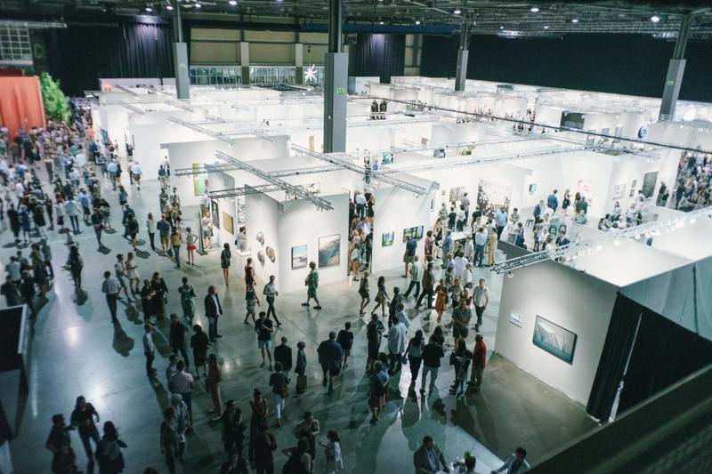The inaugural 2015 Seattle Art Fair in the CenturyLink Field Exhibition Center.
