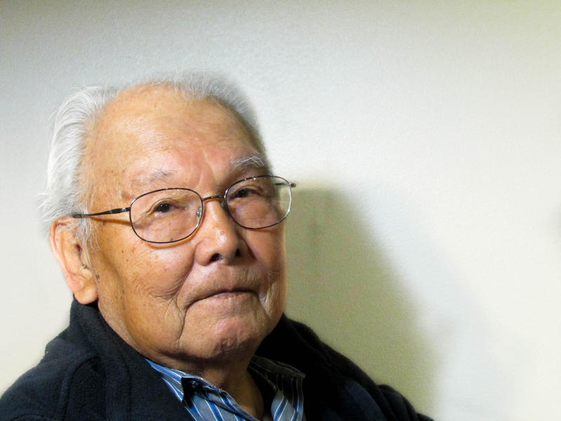 Shiyogi Kawabata, 88, worked on a wooden chain (below) while interned at Minidoka, a Japanese internment camp in Idaho.