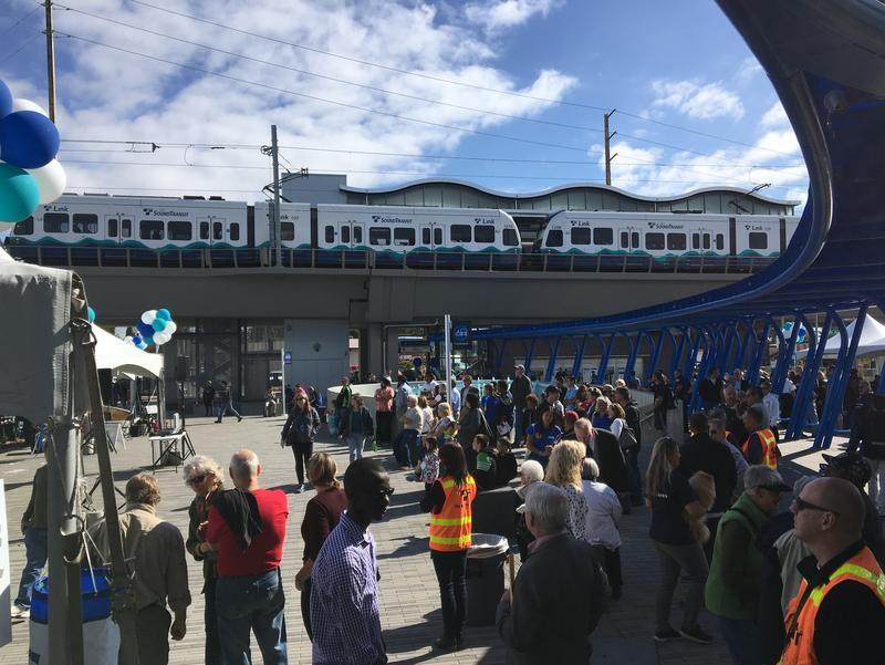Opening-day party for Sound Transit's Angle Lake station in SeaTac