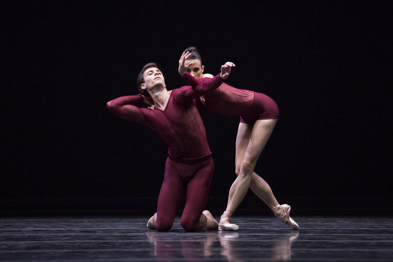 Pacific Northwest Ballet principal dancers Jerome Tisserand and Lindsi Dec in William Forsythe's New Suite, which PNB is presenting as part of DIRECTOR'S CHOICE, March 17 – 26, 2017.