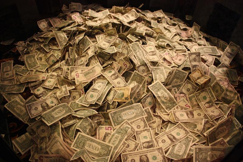 A pile of money, not unlike those raised by this year's political campaigns.