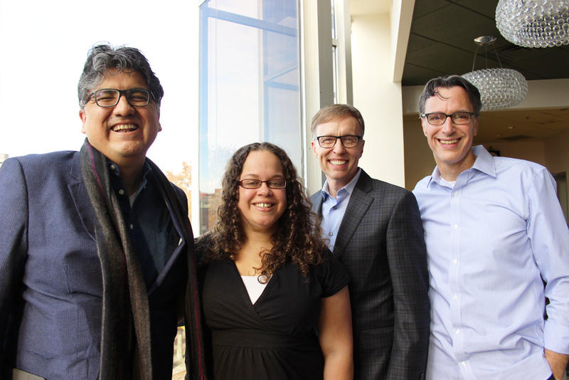 'Week in Review' panel Sherman Alexie, Phyllis Fletcher, Rob McKenna and Bill Radke.