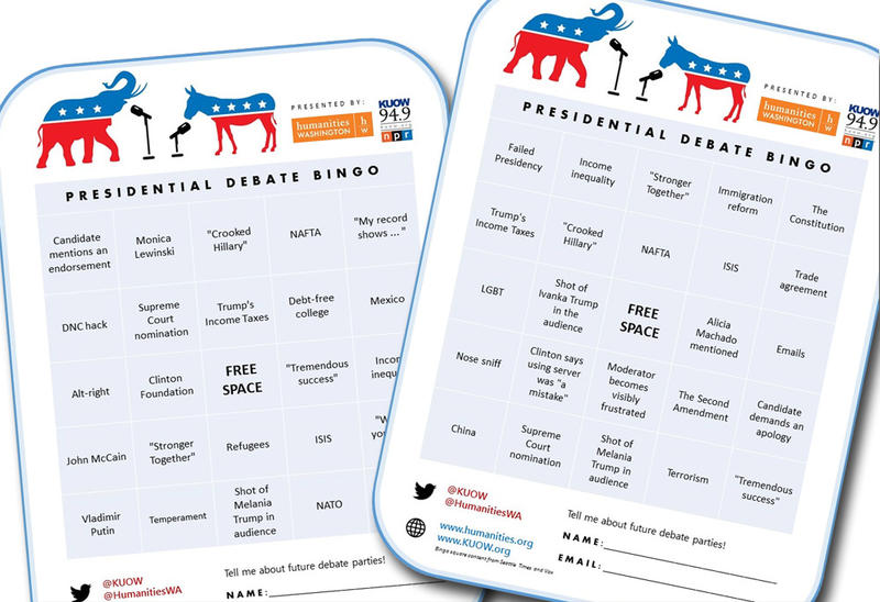 We provided bingo cards at our debate viewing party to add a little more excitement to the action.
