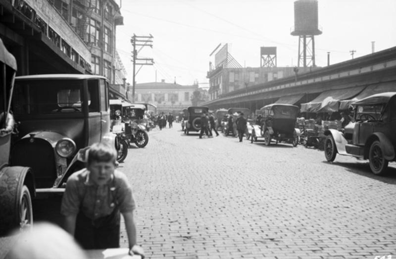 A view of the Pike Place Market in July 1919.