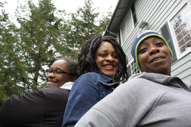 Michelle Dozier, Toya Thomas and Elimika James face eviction from the Renton Woods apartments. Residents of cities in South King County do not enjoy the same tenant protections that exist in many other parts of King County.