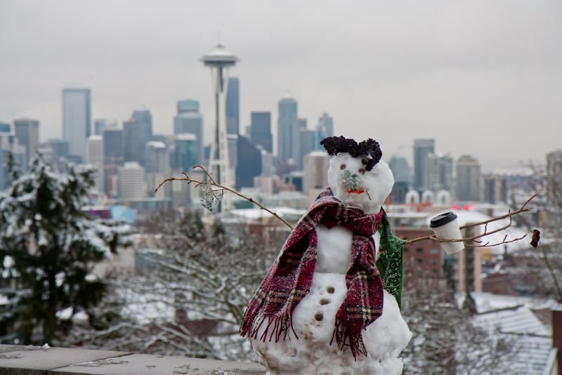 seattle snow man