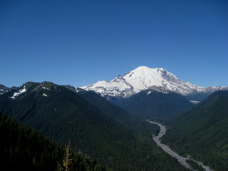 White River starts on Mount Rainier where it picks up a lot of sediment that can lead to flooding downstream.