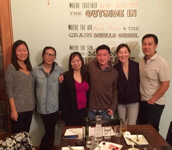 Jenny Kim (second from right) with Adam Crapser (third from right)
