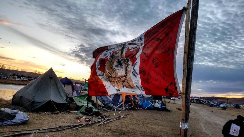 At Standing Rock, North Dakota.