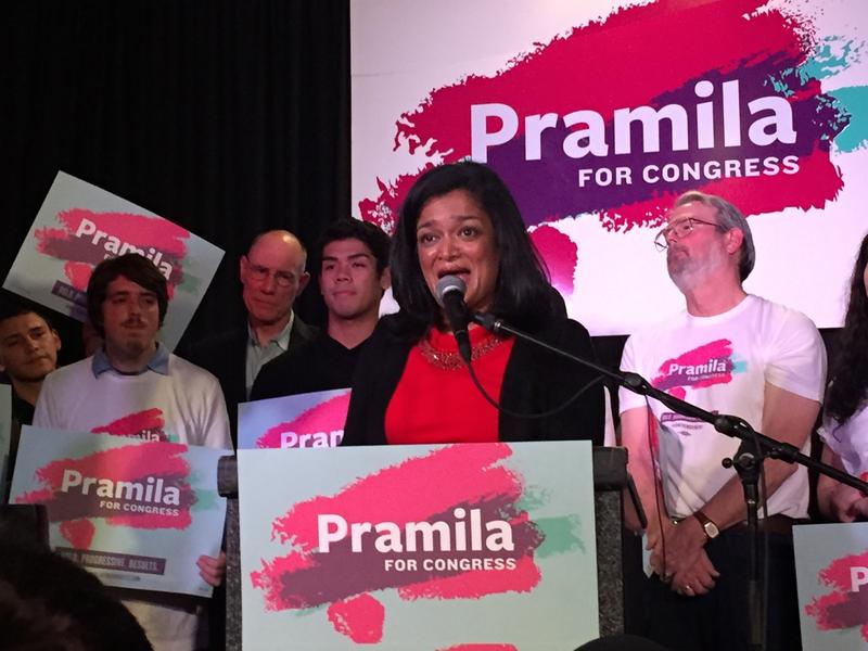 Pramila Jayapal says she'll go to Congress 'on the defensive' against new president Donald Trump.