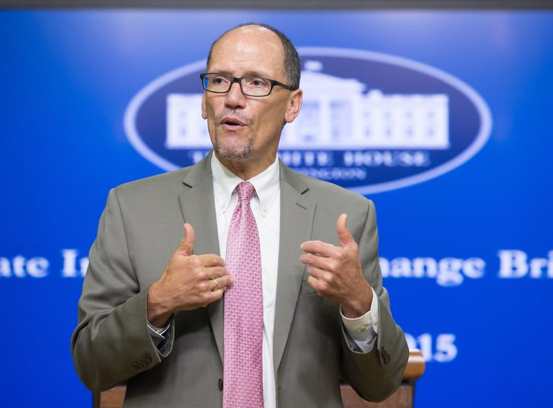 Secretary of Labor  Tom Perez says he wants voters in Washington state to approve Initiative 1433, which would raise the state's minimum wage to $13.50 over several years.